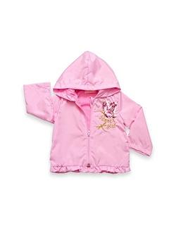 Vip Bebe Baby Rose Pullu Kelebek ışlemeli Kız Kapşonlu Yagmurluk (09 - 24 Ay) Ay)